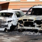 Ночью в Черновцах на проспекте Независимости сгорели 3 автомобиля